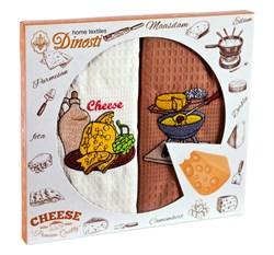 """Кухонный набор полотенец """"Сыр"""" 2пр."""