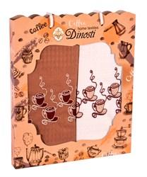"""Кухонный набор полотенец """"Чашечки кофе"""" 2пр."""
