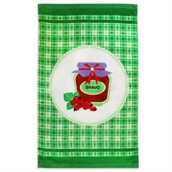 Махровые полотенца  Кухня Варенье 30* 50 зеленые