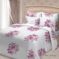 Постельное белье SORRENTO ЖАКЛИН Виолетта (4 наволочки) 1.5 спальное с наволочками 70*70
