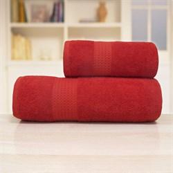 Махровые полотенца Самур 70*140 терракотовый