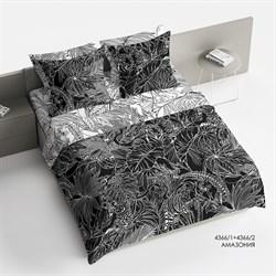 Комплект постельного белья 1.5 Браво Сатин рис.4366-1+4366-2 Амазония