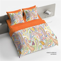 Комплект постельного белья евро Браво Сатин  рис.4368-2+4368а-2 Мумбаи