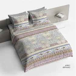 Комплект постельного белья семейный Браво Сатин  рис.4183-1 Бергамо
