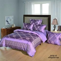 Комплект постельного белья евро Версаль рис.3772-17 Перлитта