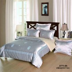 Комплект постельного белья евро Версаль рис.3771-05 Шарлотта
