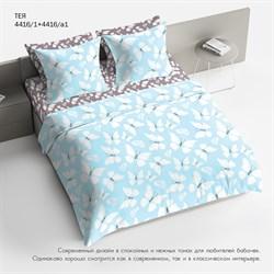 Комплект постельного белья 1.5 Браво 100% хлопок  рис.4416-1+4416а-1 Тея