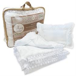 Комплект одеяло 110*140 + подушка 40*60 «Лебяжий пух» Маленькая Соня Люкс