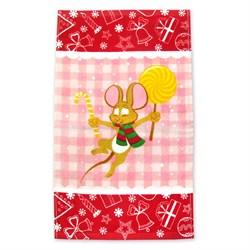 Махровые полотенца Кухня Монпансье 30* 50 красное