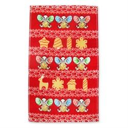 Махровые полотенца Кухня Пряники 30* 50 красное
