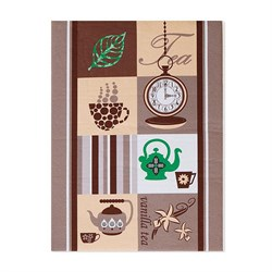 Кухонные полот Домовенок 38*50 микрофибра Чай-кофе