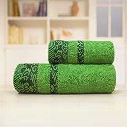 Махровые полотенца Марибель 70*140 зеленый