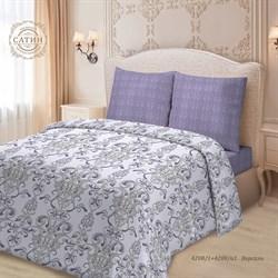 Комплект постельного белья 1.5 Для SNOFF сатин  рис.4208-1+4208а-1 Версаль