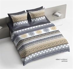 Комплект постельного белья 1.5 Браво Сатин рис.4384-1+4185а-1 Антуан