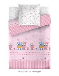 Комплект постельного белья Маленькая Соня Мелодия (розовый)