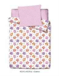 Комплект постельного белья с простыней на резинке  60*120*15 Маленькая Соня Совята