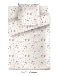 Комплект постельного белья с простыней на резинке 60*120*15 Маленькая Соня Птички