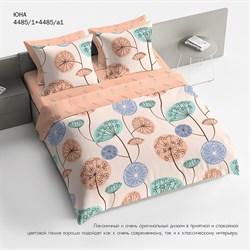 Комплект постельного белья Евро Браво 100% хлопок рис.4485-1+4485а-1 Юна