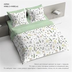 Комплект постельного белья евро Браво 100% хлопок рис.4486-1+4486а-1 Лоран
