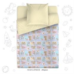Комплект постельного белья 1.5 Браво Кидс 100% хлопок рис.4112-1+3753-12 Марки
