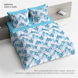 Комплект постельного белья 2.0 макси Браво 100% хлопок рис.4201-1+5095 Майорка
