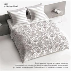 Комплект постельного белья 1.5 Браво 100% хлопок рис.4178-1+4177а-3 Лия