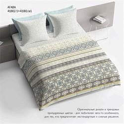 Комплект постельного белья 1.5 Браво 100% хлопок рис.4180-1+4180а-1 Агава