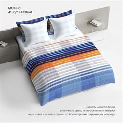 Комплект постельного белья 1.5 Браво 100% хлопок рис.4136-1+4136а-1 Марино
