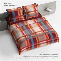 Комплект постельного белья 2.0 макси Браво 100% хлопок рис.4259-1+4184а-1 Кентукки