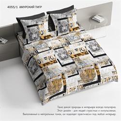 Комплект постельного белья 1.5 Браво 100% хлопок рис.4055-1 Амурский тигр