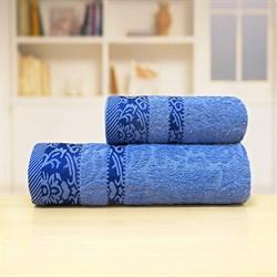 Махровые полотенца Марибель 50* 90 син