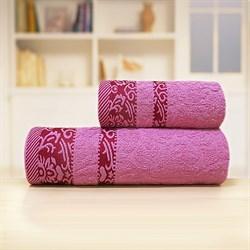Махровые полотенца Марибель 50* 90 роз