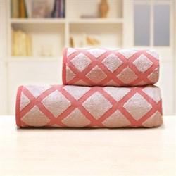 Махровые полотенца Степ 70*140 роз
