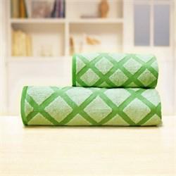 Махровые полотенца Степ 70*140 зел