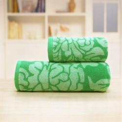 Махровые полотенца Екатерина 50* 90 зел