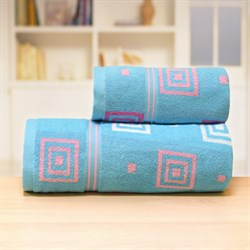Махровые полотенца Лабиринт 70*140 син