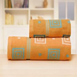Махровые полотенца Лабиринт 70*140 оранж