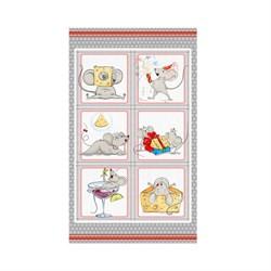 Кухонные полотенца Домовенок 38*64 микрофибра Крыска фотомодель