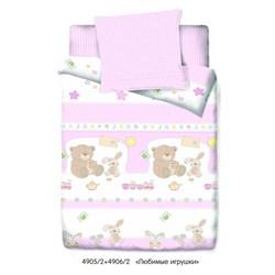 Комплект постельного белья Маленькая Соня Любимые игрушки (розовый)