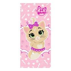 Махровые полотенца  44 Котёнка Пилу м1144_02 S  33* 70 роз