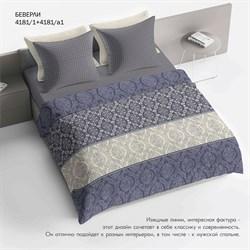 Комплект постельного белья 2.0 макси Браво 100% хлопок рис.4181-1+4181а-1 Беверли