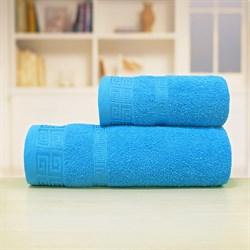 Махровые полотенца Арабика L  70*140 син