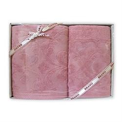 Набор полотенец Бамбук жаккард 50* 90 + 70*140 роз