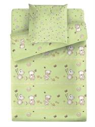 Комплект постельного белья Маленькая Соня Мишки (зеленый)