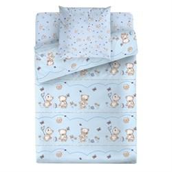 Комплект постельного белья Маленькая Соня Мишки (голубой)