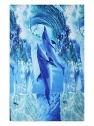 Вафельное полотенце 100*150 Дельфины