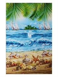 Вафельное полотенце 100*150 Пляж