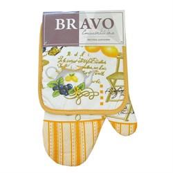 Набор кухонный К 2пр прихватка+рукавица Лимон ИКР
