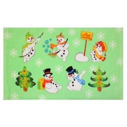 Махровые полот ВТ Кухня Снеговики м1173_03 S  30* 50 зел