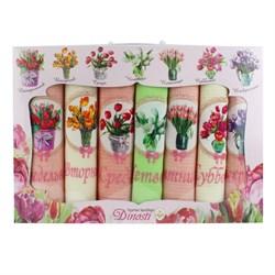 Набор салфеток 7шт неделька - Аппликация Цветы НМ-802 ДТ